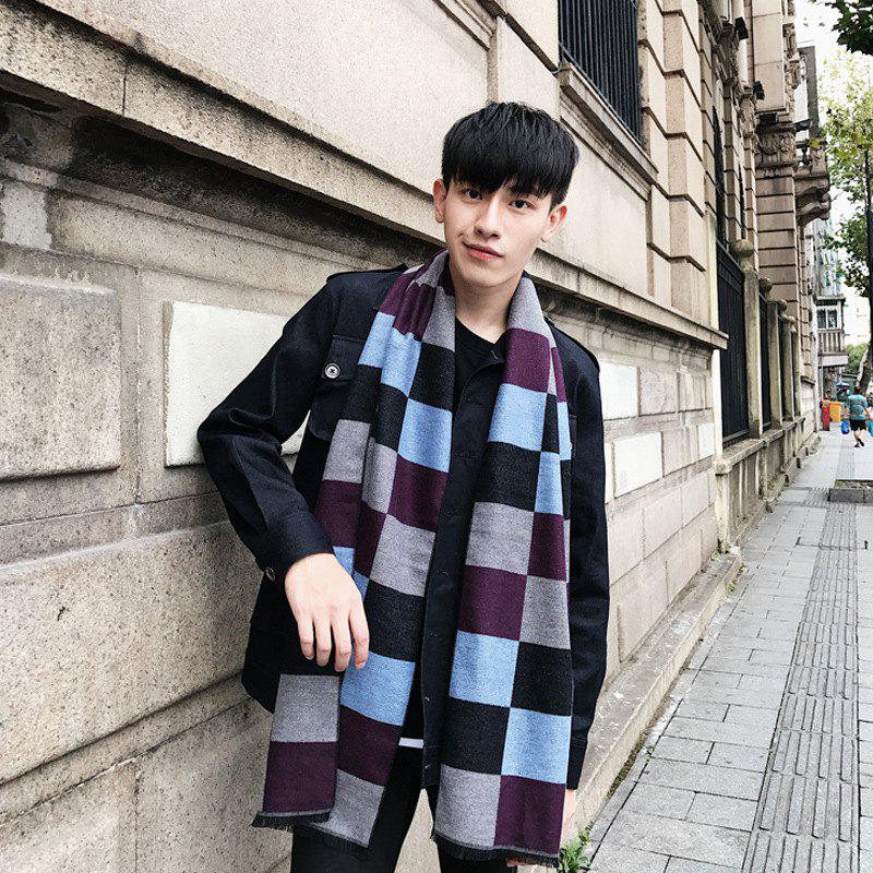 6762128fd5 Best New Men s Business Casual Korean Plaid Scarf Warm Thick Scarf Autumn  And Winter Scarf NS001