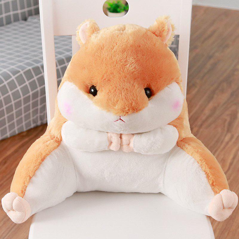 Hot Cartoon Cute Hamster Pillow Sofa Waist Chair Chair Lumbar Pillow Bed Cushion Car Seat Pillow Backrest