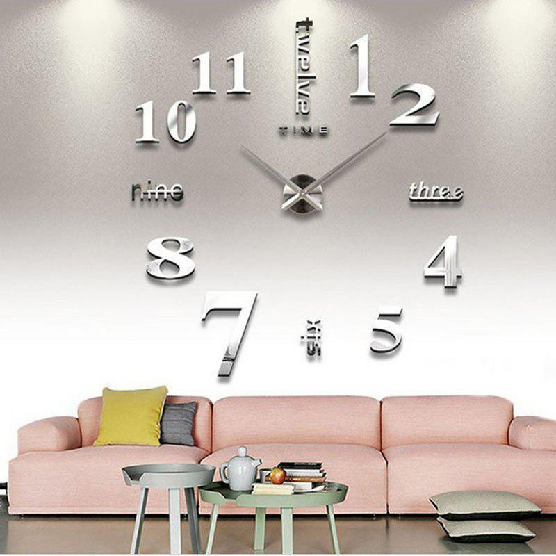 Outfit Oversized Creative DIY Wall Clock Personality Art 3D Mirror European Wall Clock Silent Clock