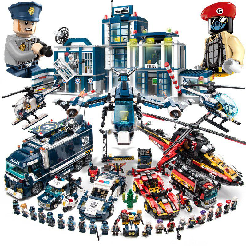 Sale Enlightenment Compatible LEGO Bricks Police Series Children's Educational Military Assembled Toys 5 Boys 6-8-10 Years Old 12