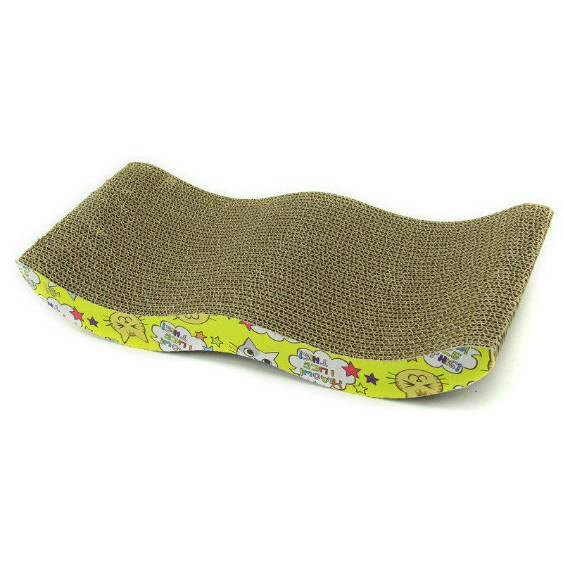Pet Cat M Type S Corrugated Paper Cat Scratching Board Cat Claw Toy 4CM Thickness Cat Catching Box Pet Supplies