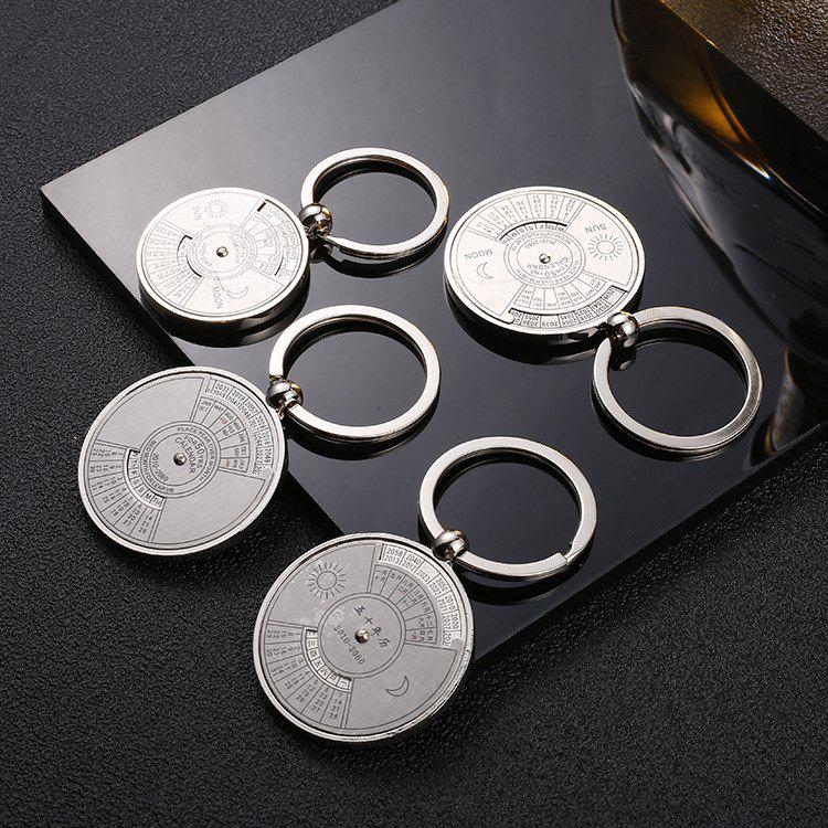 Shops Lucky Compass Perpetual Calendar Keychain Ladies Key Chain Business Restaurant Small Gifts
