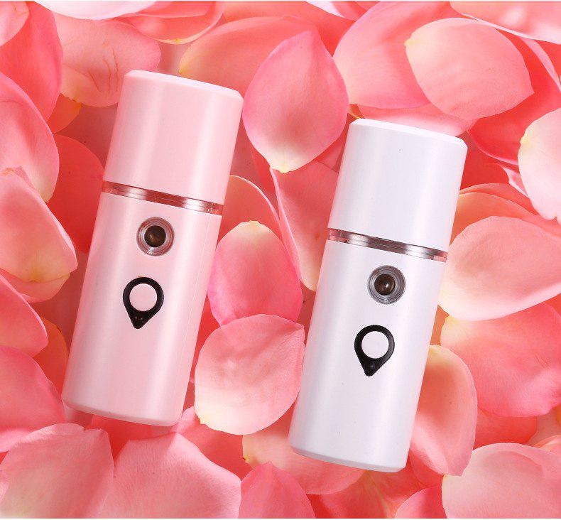 Trendy New Handheld Nano Spray Water Meter Portable Cold Spray Humidifier Mini Steaming Face Skin Care Hydrating Artifact