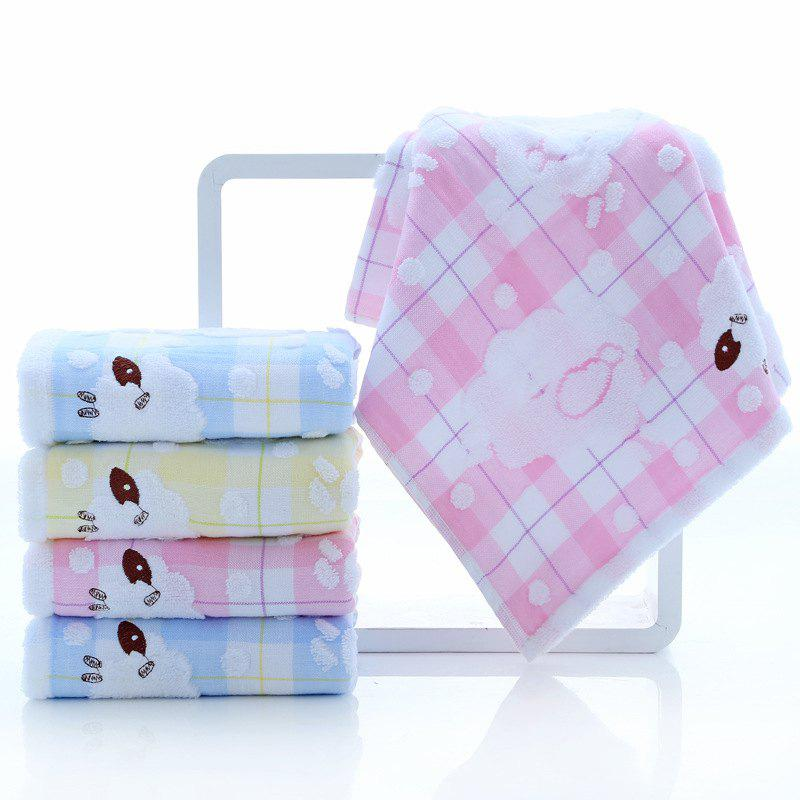 Online Towel Double-layer Crepe-free Embroidered Sheep AB Face Towel Soft And Breathable Cartoon Wash Face Towel