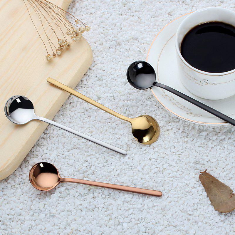Sale Stainless Steel Small Spoon Scrub Handle Tea Coffee Spoon