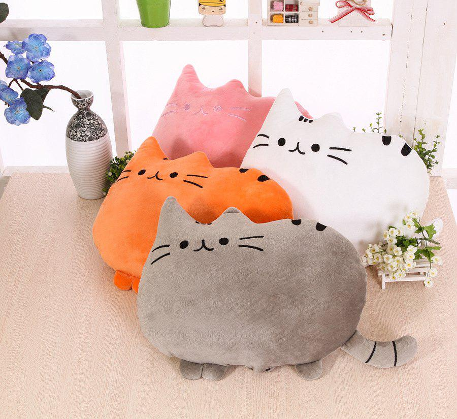 Cartoon Cat Pillow Chubby Cat Back Pillow To Watch TV Work Студенты Universal Cute Pillow