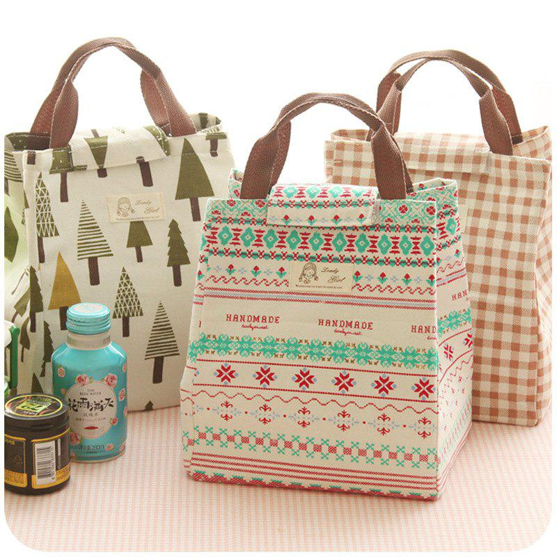 Shops New Portable Insulation Lunch Bag Waterproof Canvas Bag Insulation Lunch With Rice Bag Insulation Bag Lunch Box