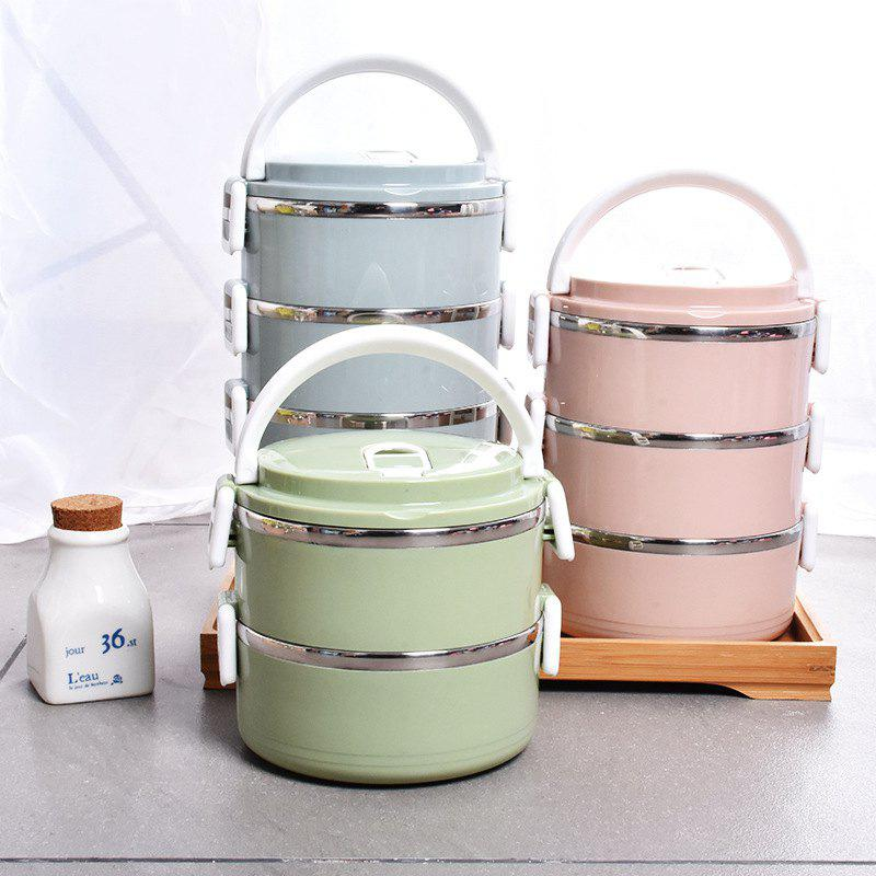 Korean Stainless Steel Lunch Box Multi-layer Stainless Steel Japanese Lunch Box Nordic Color Pot
