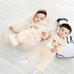 Hood Foot Cover Long Sleeves Romper Baby Cotton Jumpsuit -