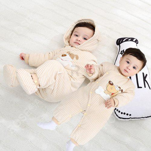 New Hood Foot Cover Long Sleeves Romper Baby Cotton Jumpsuit