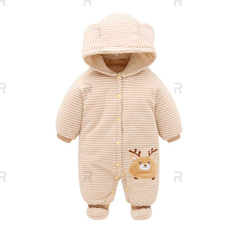 Store Hood Foot Cover Long Sleeves Romper Baby Cotton Jumpsuit