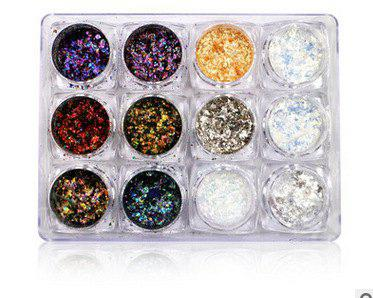 Cheap New Nail Art Cloud Powder Chameleon Powder Nail Sequins Color Star Glitter