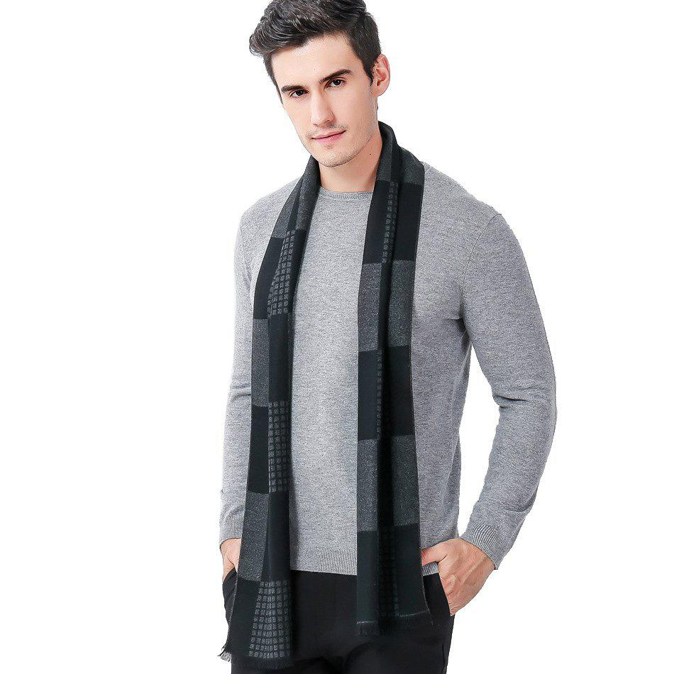 8978cdbd5 Hot Autumn And Winter New AliExpress Ebay Plaid Color Men's Scarf Cashmere  Warm Scarf