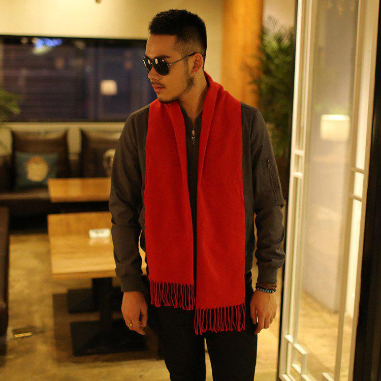 Unique Autumn And Winter New Men's Scarves Solid Color Men's Cashmere Scarf Thickening Business Warm Scarf