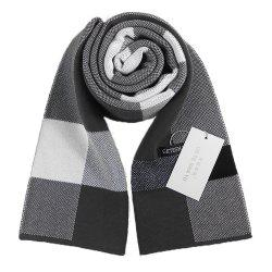 Autumn And Winter New Men's Scarf Classic Square Plaid Cashmere Bib Thick Warm Business Two Sides -