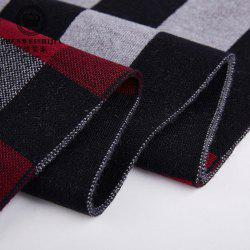 New Striped Men's Scarf Middle-aged Wool Collar Casual Warm Thick Business Men's Direct Camp -