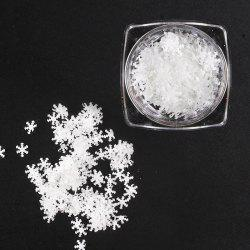 Thin White Snowflake Sequins Christmas Stickers Phototherapy Nail Drills -