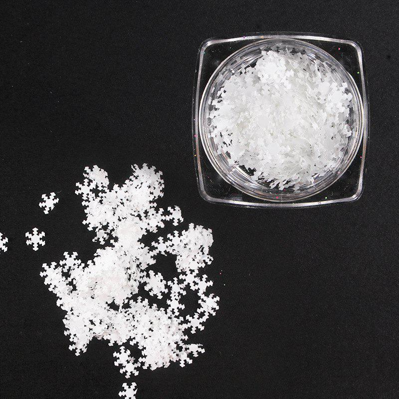Shops Thin White Snowflake Sequins Christmas Stickers Phototherapy Nail Drills