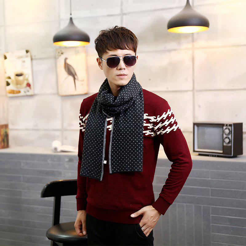 Outfit Autumn And Winter Korean Tide High-grade British Silk Double-layer Silk Silk Scarf Silk Men's Scarf