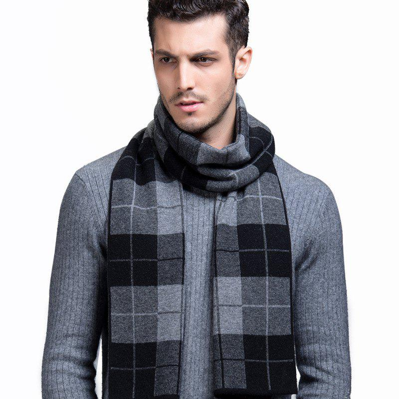 Outfits Men's Scarves New Winter Pure Wool Scarf Fashion Thick Scarf Korean Version Of The Plaid Wool Scarf