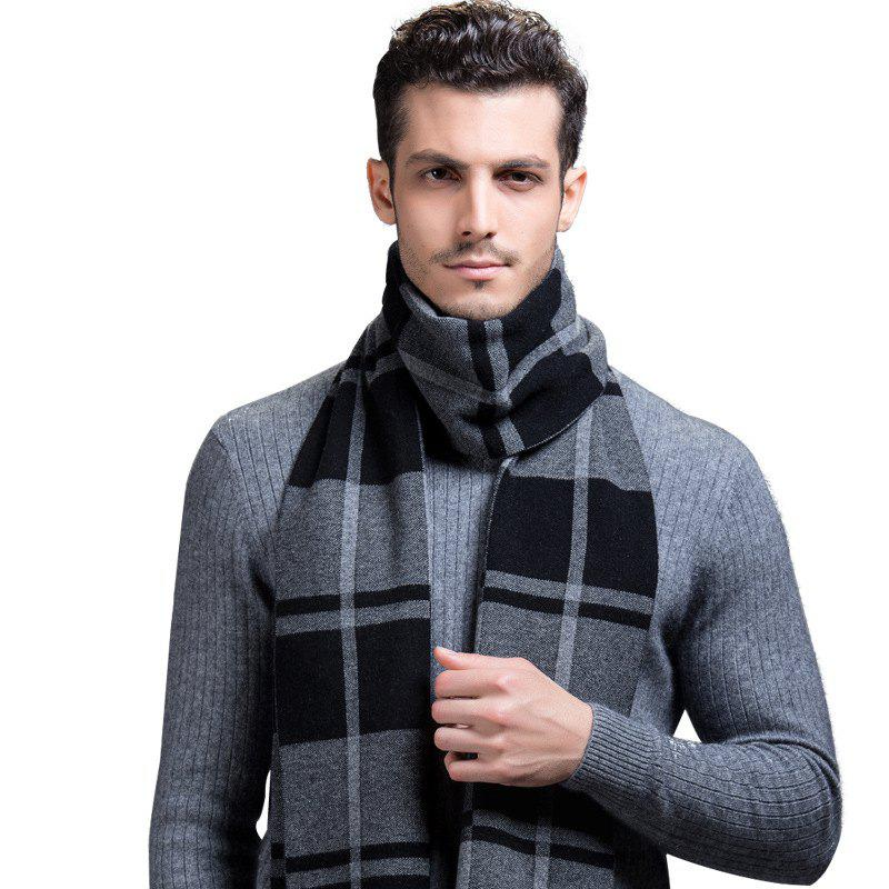 Unique Autumn And Winter New Men's Scarves Pure Wool British Business Shoulder Thicken Fashion Korean Version Of The Tide Men's Collar
