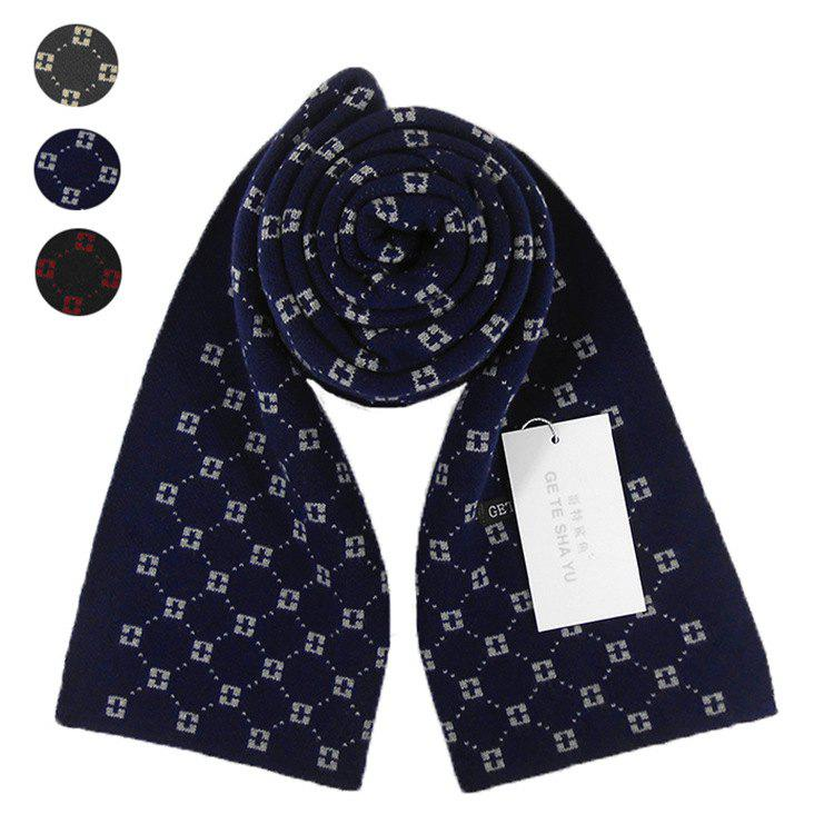 Hot Autumn And Winter New Men's Scarf Classic Square Plaid Cashmere Bib Thick Warm Business Two Sides
