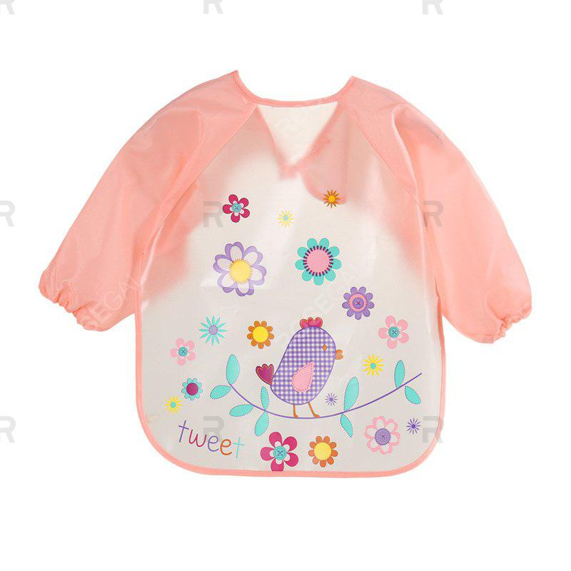 Latest Children's Waterproof Long-sleeved Food Clothes Baby Bib