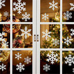 Christmas Decorations Snowflakes Static Stickers Christmas Decoration Glass Window Stickers Red White Snowflake -