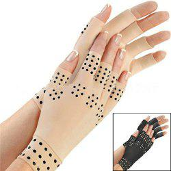 Attra-Yo 1 Pair Of Magnetic Treatment Glue Half Finger Gloves Arthritis Pain Treatment Joint Health Care -