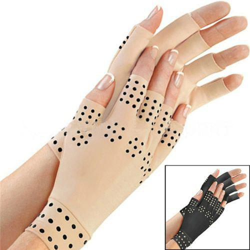 Shops Attra-Yo 1 Pair Of Magnetic Treatment Glue Half Finger Gloves Arthritis Pain Treatment Joint Health Care