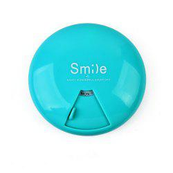 Candy Color Portable Pill Box 7 Days Rotating Large Capacity -