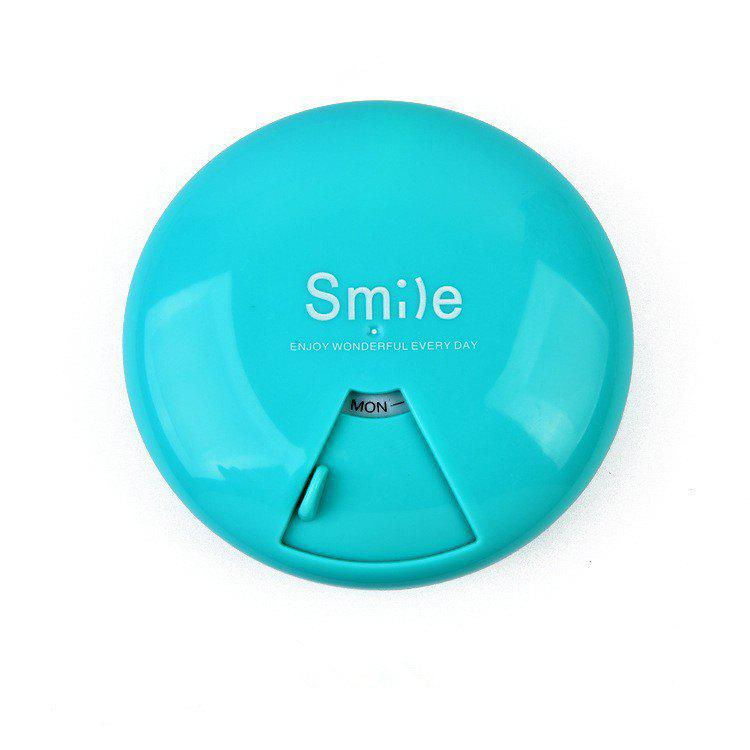 Discount Candy Color Portable Pill Box 7 Days Rotating Large Capacity