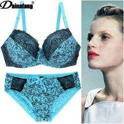 b083d9f6a3 Large Size Bra Set Printing Lace Underwear Set AliExpress Ebay Dunhuang  Explosion Models ...