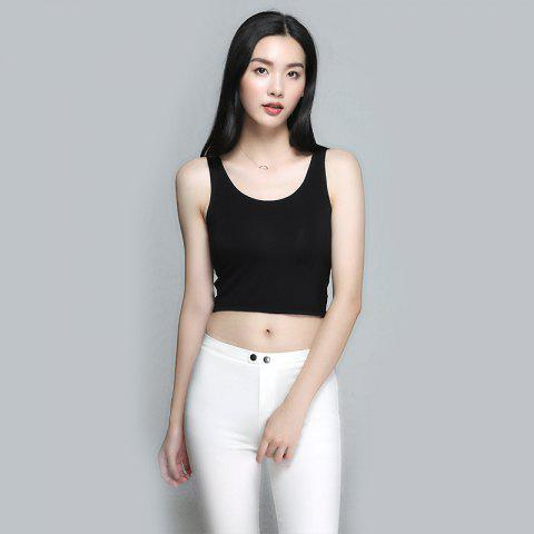 a2c5789f0b Women  39 s Modal Sling Bottoming Shirt With Chest Pad Large Size Exposed  Umbilical