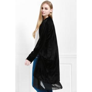 Stylish Long Sleeve Swingy Velvet Women's Coat -