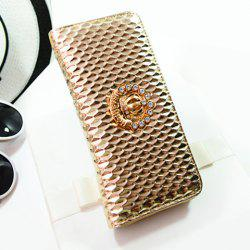Trendy PU Leather and Embossing Design Clutch Bag For Women - GOLDEN