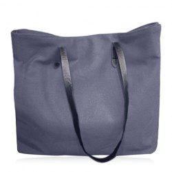 Simple Canvas and Solid Colour Design Shoulder Bag For Women - LIGHT GRAY
