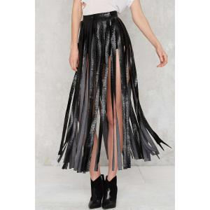 Stylish Skirting With Fate Fringe Women's Skirt