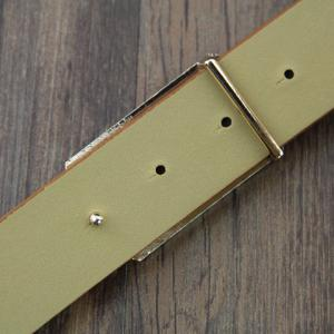 Hot Sale G Letter Shape Alloy Buckle Adjustable Belt For Men -