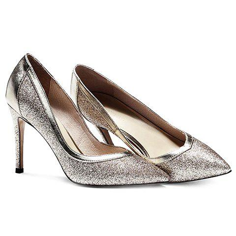 Trendy Trendy Sequined Cloth and Solid Colour Design Pumps For Women