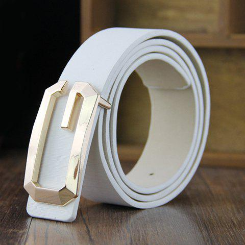 Unique Hot Sale G Letter Shape Alloy Buckle Adjustable Belt For Men