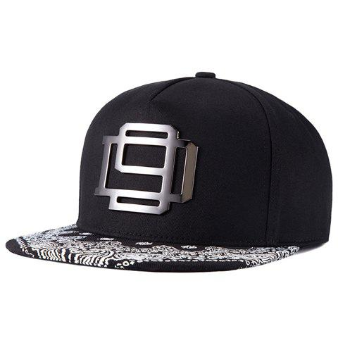 Trendy Stylish Hollow Out Alloy Embellished Arabesque Pattern Brim Baseball Cap For Men