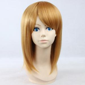 Elegant Straight Golden Synthetic Vogue Medium Side Bang Petra Rall Cosplay Wig