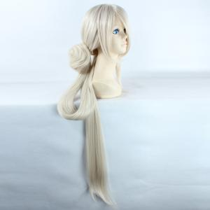 Noble Extra Long Synthetic Straight Ima No Tsurugi Cosplay Wig with Chignons - OFF WHITE