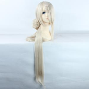 Noble Extra Long Synthetic Straight Ima No Tsurugi Cosplay Wig with Chignons