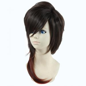 Two-Tone Ombre Fluffy Layered Natural Straight Vogue Long Dai Kurikara Cosplay Wig -
