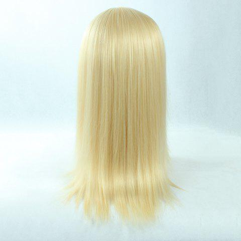 Best Fashion Long Straight Synthetic Attractive Side Bang Light Blonde Christa Lenz Cosplay Wig - LIGHT GOLD  Mobile