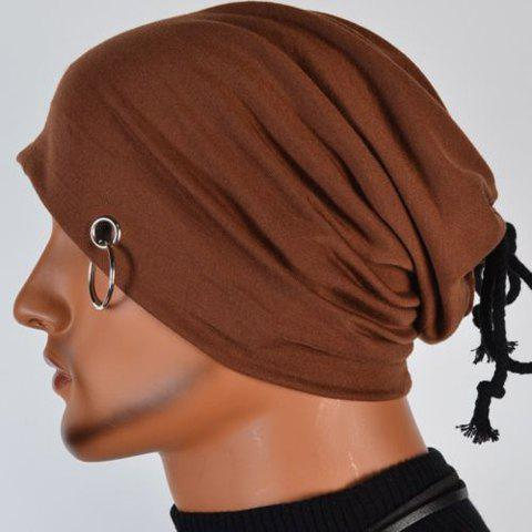 Fashion Hot Sale Lace-Up Ring Embellished Skullies Beanie For Men -   Mobile