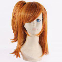 Stunning Medium Straight Synthetic Honoka Kousaka Cosplay Wig with Clamp Ponytail - ORANGE
