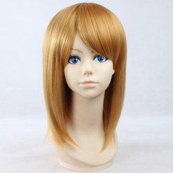 Elegant Straight Golden Synthetic Vogue Medium Side Bang Petra Rall Cosplay Wig - GOLDEN
